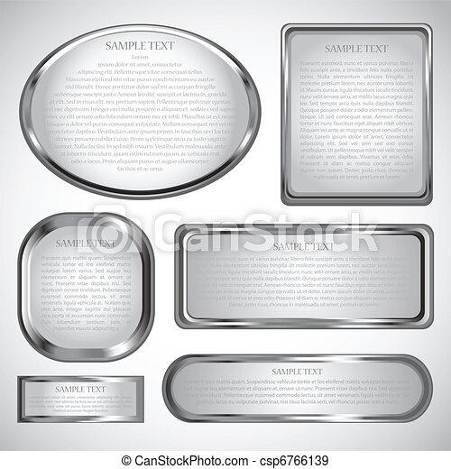 keret, határ, ezüst - csp6766139