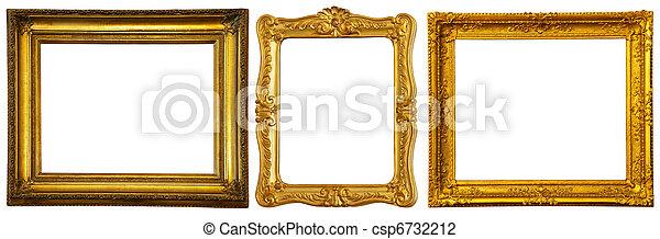 keret, kevés, állhatatos, arany - csp6732212
