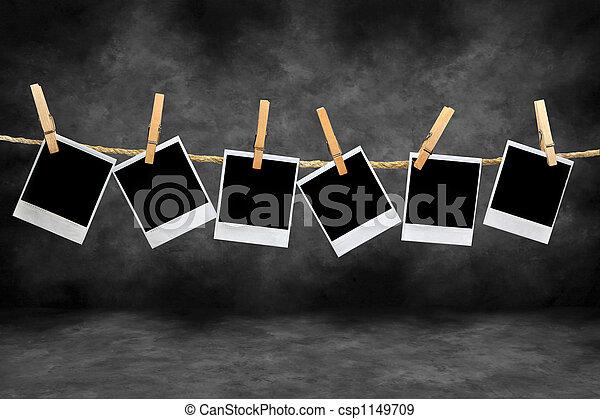 keret, szüret, polaroid, sötétszoba - csp1149709