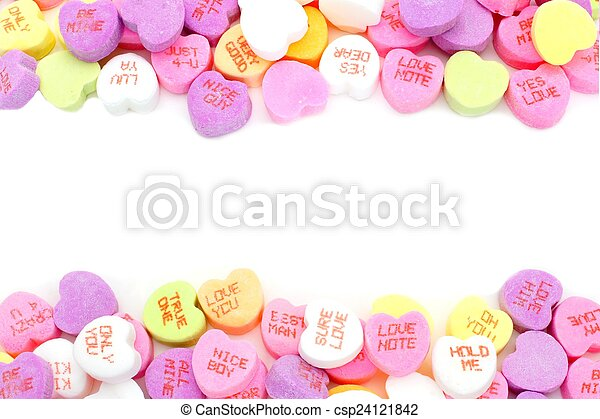 keret, valentines nap, cukorka - csp24121842