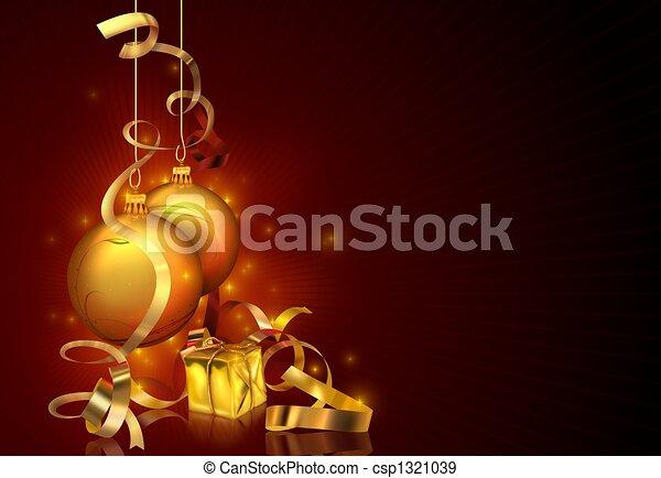 kerstmis, achtergrond, rood - csp1321039