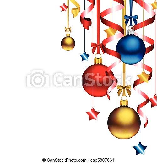 kerstmis, achtergrond - csp5807861