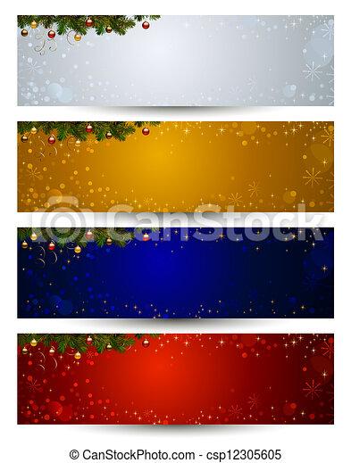 kerstmis, banieren - csp12305605