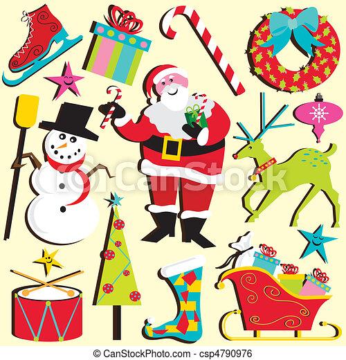 kerstmis, clipart - csp4790976
