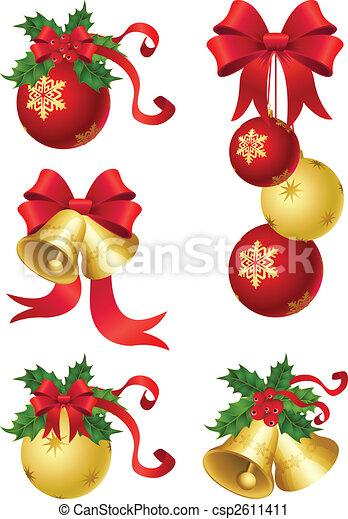 kerstmis, decor - csp2611411