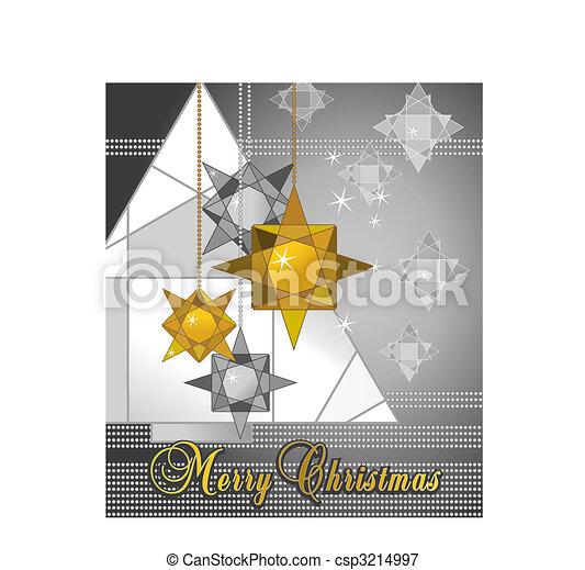 kerstmis kaart - csp3214997