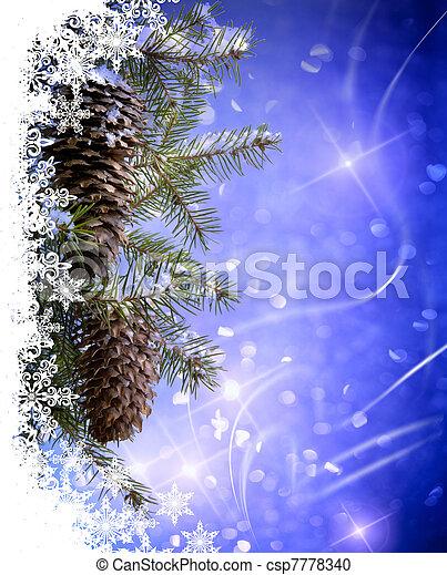 kerstmis kaart, groet - csp7778340