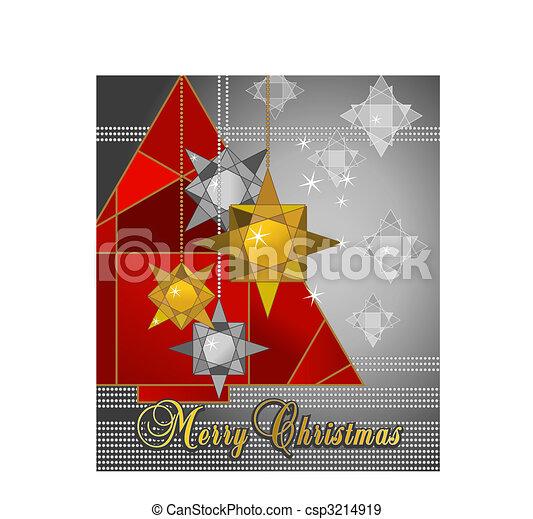 kerstmis kaart - csp3214919