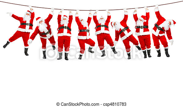kerstmis, kerstman - csp4810783