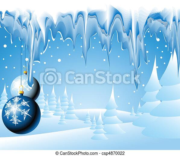 kerstmis, landscape - csp4870022