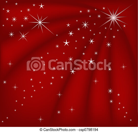 kerstmis, rood, magisch - csp0798194