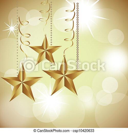 kerstmis, sterretjes - csp10420633