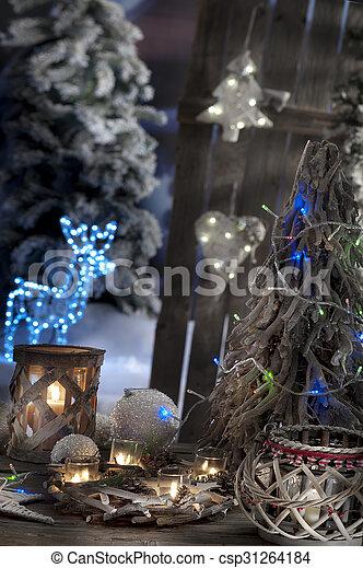 kerzen, fokus, closeup, hintergrund, weihnachten, heraus - csp31264184