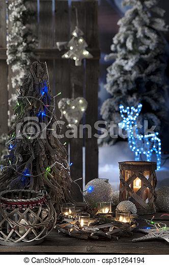 kerzen, fokus, closeup, hintergrund, weihnachten, heraus - csp31264194