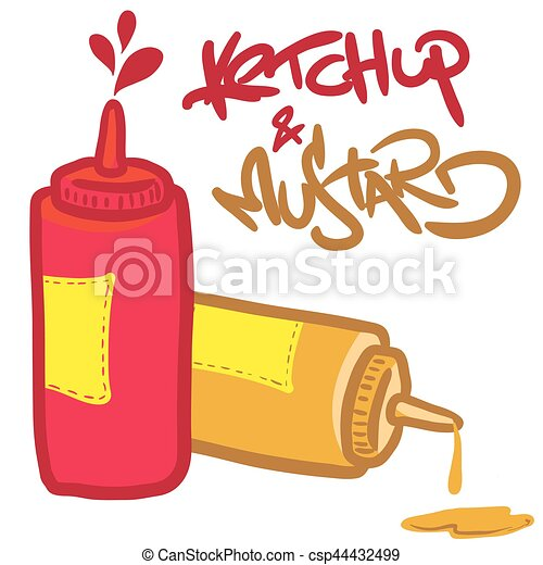 ketchup, moutarde - csp44432499
