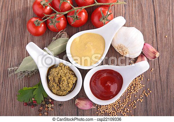 ketchup,mayo and mustard - csp22109336
