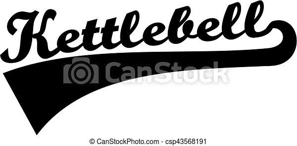 Kettlebell retro word - csp43568191