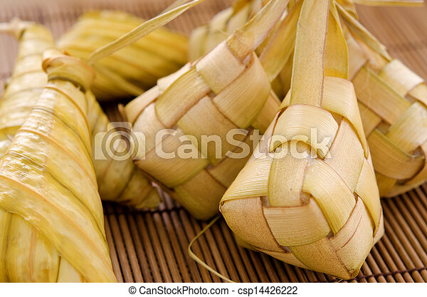 Ketupat Malay food. - csp14426222