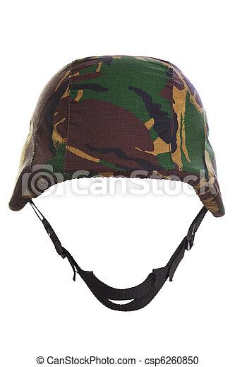 kevlar, casque, camouflage, coupé - csp6260850