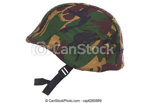 kevlar, casque, camouflage, coupé - csp6260889