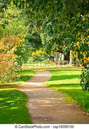 Kew, parque, jardines. Botánico, real, jardines, londres, senda.