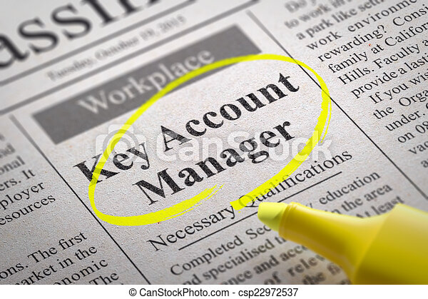 key account manager vacancy in newspaper job search concept. Black Bedroom Furniture Sets. Home Design Ideas