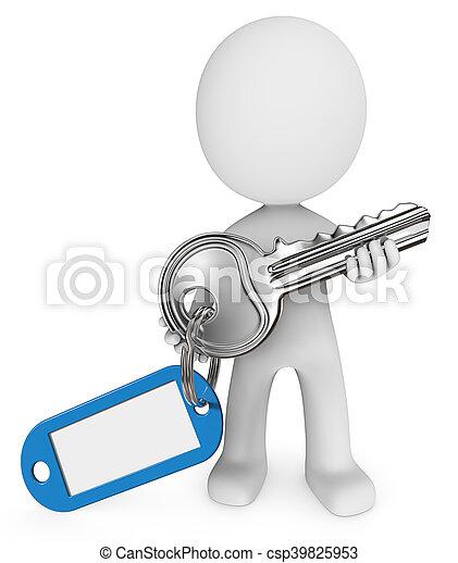 Key and Badge. - csp39825953