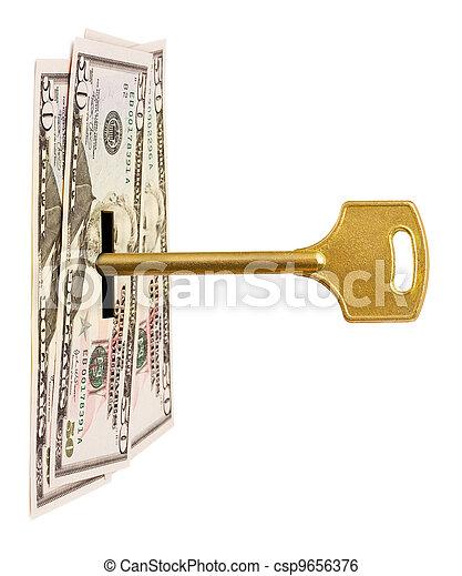 Key and money - csp9656376