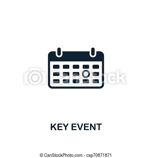 Key Event icon. Premium style design from business management icon collection. Pixel perfect Key Event icon for web design, apps, software, print usage - csp70871871
