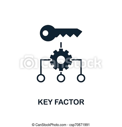 Key Factor icon. Creative element design from business strategy icons collection. Pixel perfect Key Factor icon for web design, apps, software, print usage - csp70871991