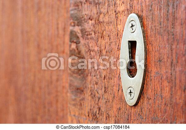 Key hole close up - csp17084184