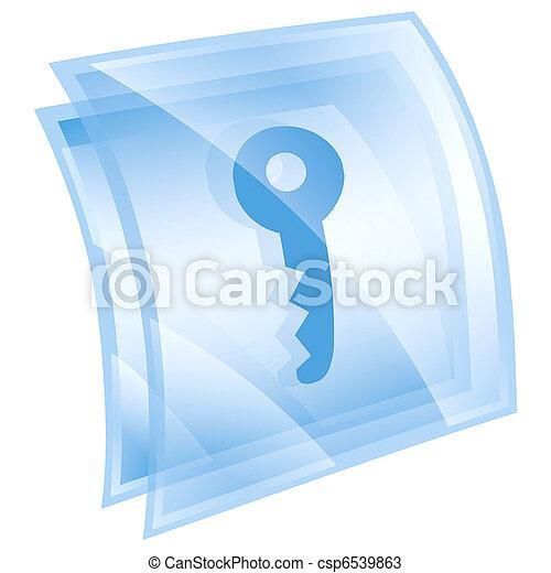 Key icon blue, isolated on white background - csp6539863