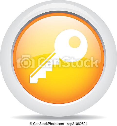 key isolated on white background - csp21062894