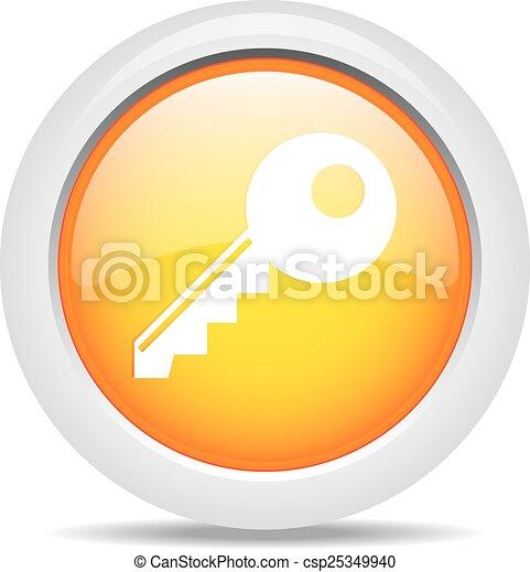 key isolated on white background - csp25349940