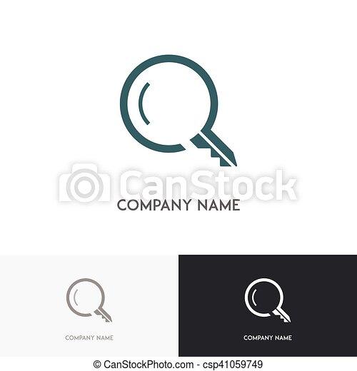 Key search logo - csp41059749