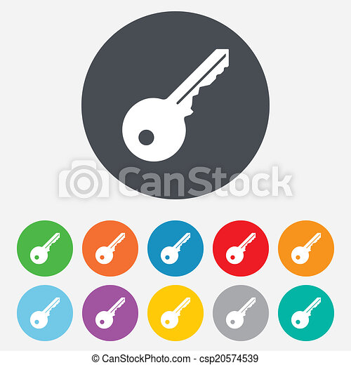 Key sign icon. Unlock tool symbol. - csp20574539