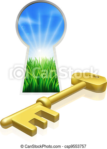 Key to freedom concept - csp9553757