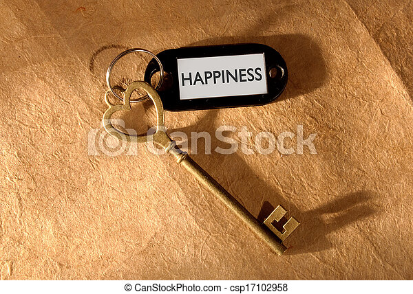 Key to happiness  - csp17102958