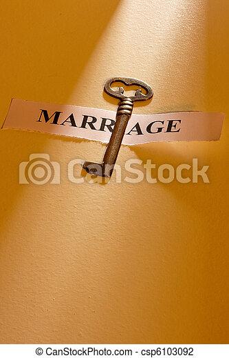 Key to Marriage - csp6103092