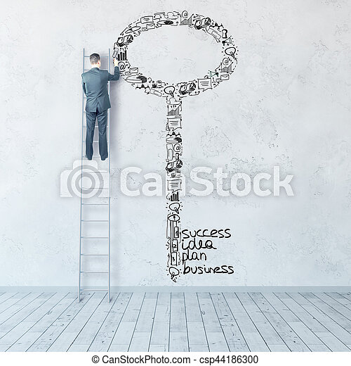 Key to success concept - csp44186300
