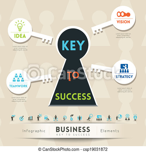 Key to Success in Business Illustration - csp19031872