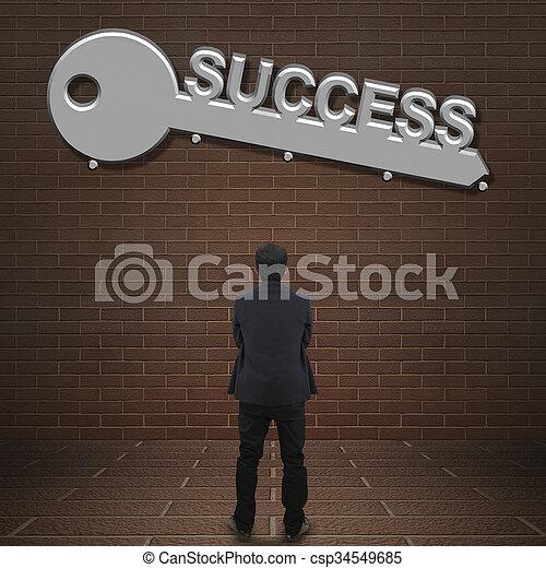 Key to success  - csp34549685