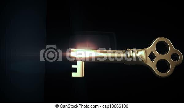 key unlocking lock and door opening to a bright light hd 1080