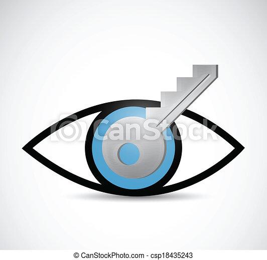 key visual idea illustration design - csp18435243