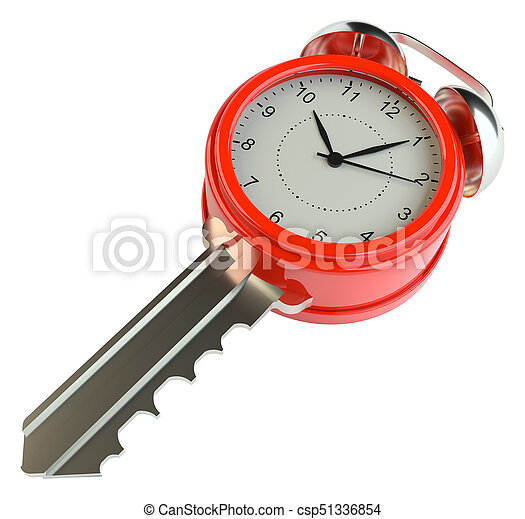 84354d3161 Key with alarm clock. success concept or concept of housing sales ...