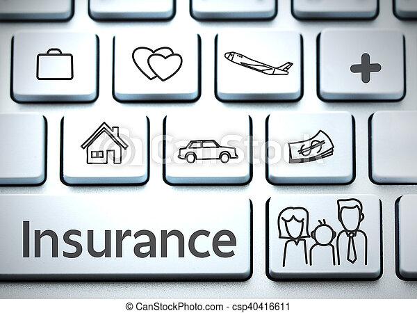 Keyboard for insurance (insurance, life, health) - csp40416611