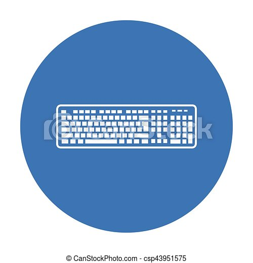 Keyboard Icon In Black Style Isolated On White Background
