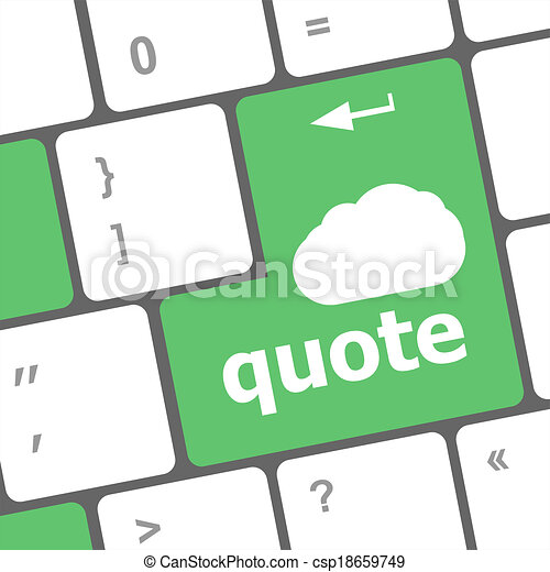 keyboard key for quote - business concept - csp18659749