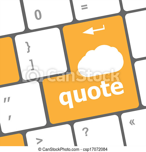 keyboard key for quote - business concept - csp17072084