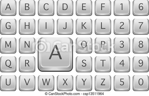 Keyboard Letters Clip Art